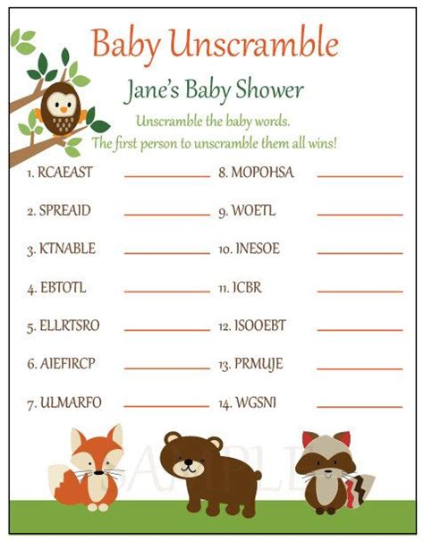 the hunger games themes unscramble answers baby shower games unscramble baby shower ideas