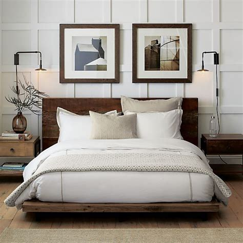 Bed Without Headboard Or Footboard atwood bed without bookcase footboard crate and barrel
