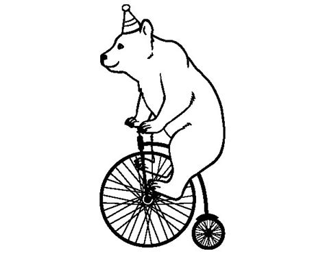 imagenes para colorear bicicleta dibujo de oso en bicicleta para colorear dibujos net
