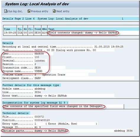 Sap Debugging Tutorial Pdf | debugging in sap abap in use the sap abap debugger