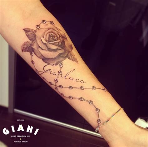 beads rose graphic tattoo by roony best tattoo ideas gallery