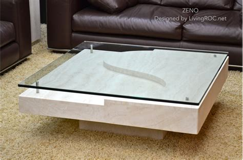 marble glass coffee table 100x100 square marble glass coffee table travertine zeno