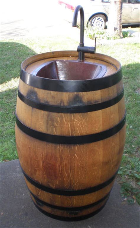Fontaine Kitchen Faucet by Turn A Wine Barrel Into An Outdoor Sink