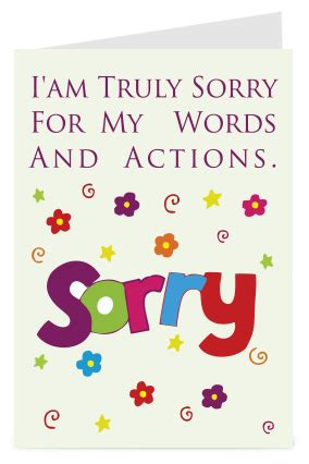 Small Shower Ideas by Sorry Cards Make Sorry Greeting Card Online India