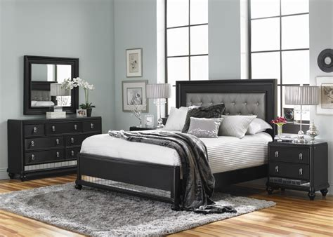 exclusive bedroom furniture diva midnight queen bedroom set sl8809 bedroom groups