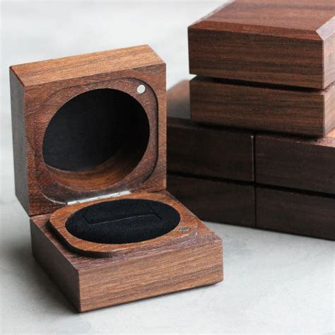 Handmade Box - handmade sustainable walnut ring boxes aide m 233 moire