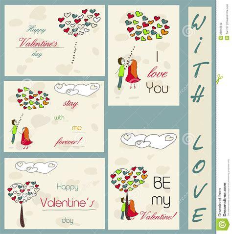 imagenes tarjetas retro conjunto de tarjetas del vintage sobre amor ilustraci 243 n