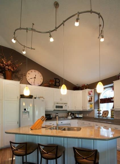 kitchen track lighting ideas kitchen lighting ideas vaulted ceiling kitchen lighting