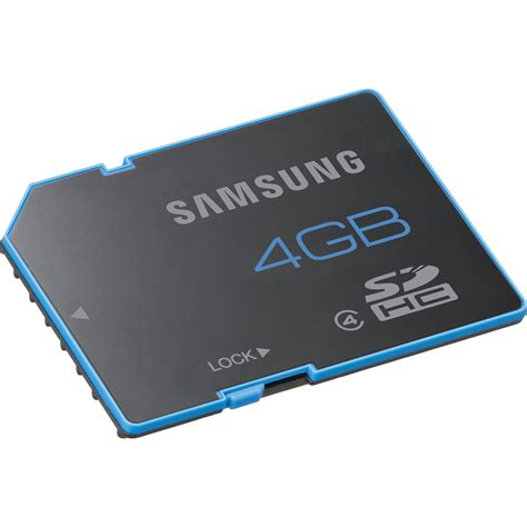 Memory Card 4gb Samsung samsung 4gb sdhc memory card standard series class 4 mb ss4gb am