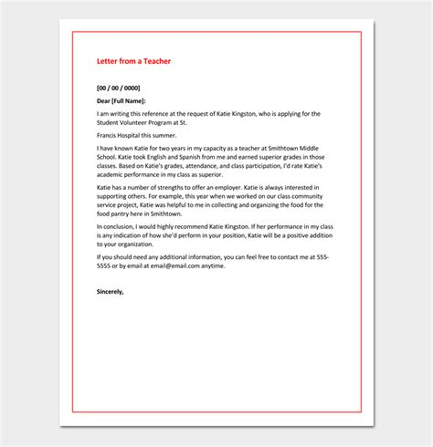 Recommendation Letter Qualifications Academic Recommendation Letter 4 Sles Printable