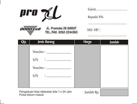 template undangan elektronik contoh nota penjualan cellular archives download desain