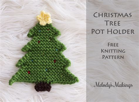 christmas tree pot holder pattern crochet knit