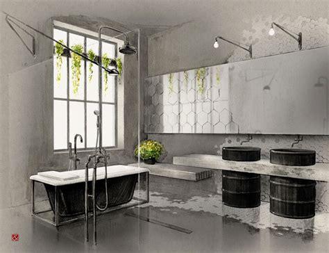 stile e arredo bagno stile industriale 50 idee di arredo dal design