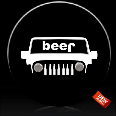 Jeep Beer Bottle Spare Tire Cover Custom Tire Covers