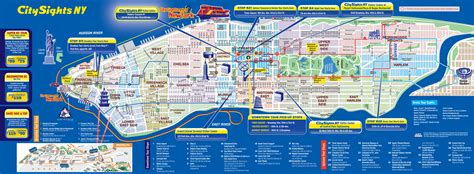 tourist map of new york city map of nyc tourist attractions sightseeing tourist tour