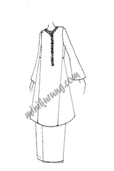 baju adat colouring pages baju kurung pahang sketch coloring page