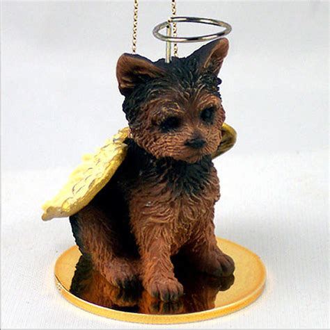 yorkie statue yorkie figurine ornament statue painted pup cut ebay