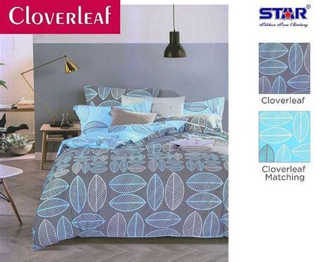 Sprei Tommoni Merak Biru Uk 180 160 detail produk sprei dan bedcover cloverleaf biru toko bunda