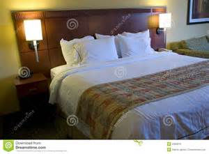 King Size Bed Tokio Hotel Hotel Bed And Ls Royalty Free Stock Images Image 2282619
