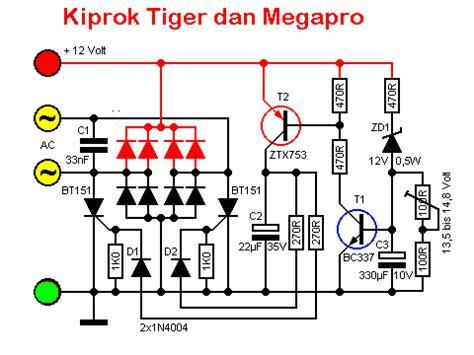 Kiprok Tiger By Mega Jaya Motor solusi battery koleksi skema kiprok aplikasi honda tiger