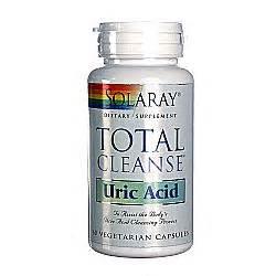 Uric Acid Detox Bath by Solaray Total Cleanse Uric Acid 60 Vcapsules Evitamins
