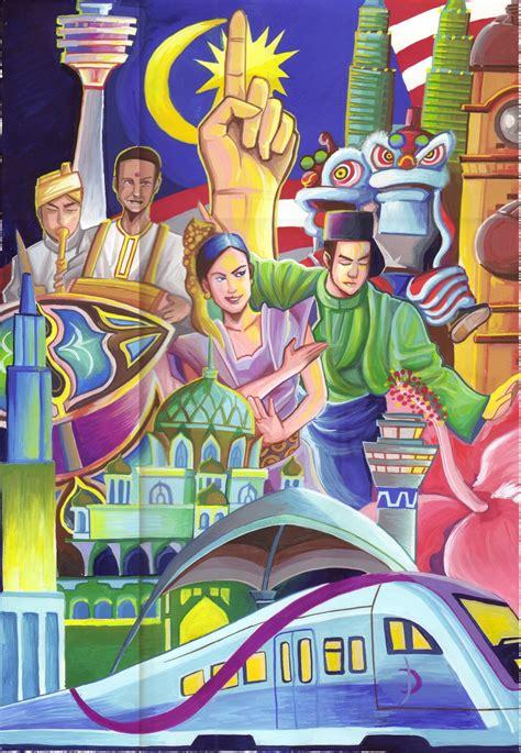 poster pertandingan mewarna kemerdekaan 2013 one malaysia poster by chenkl on deviantart