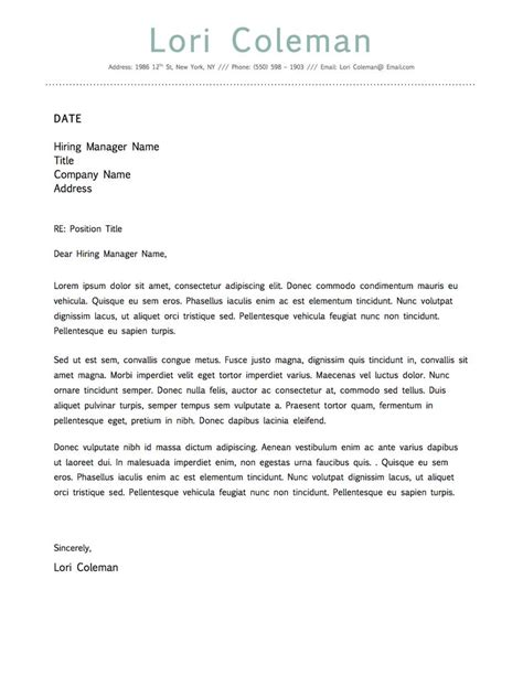 simple beautiful cover letter template microsoft word