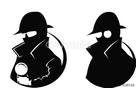 Detective Clipart Black And White detective with magnifying glass clipart cliparts co