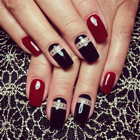 red nail beds 20 stunning red black nail designs you ll love to try