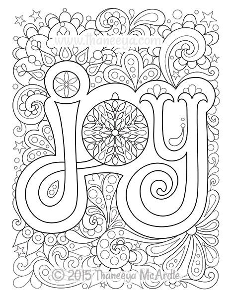 coloring pages for joy christmas coloring book by thaneeya mcardle thaneeya com