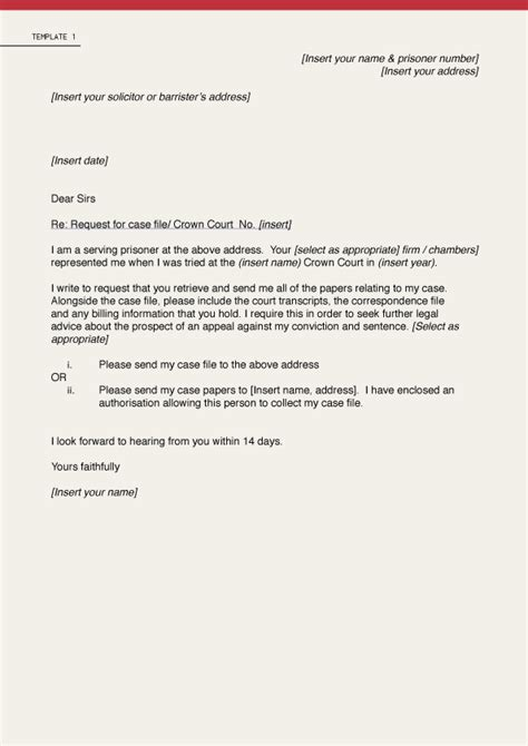 Complaint Letter Template Solicitor Open Justice Initiative Centre For Criminal Appeals