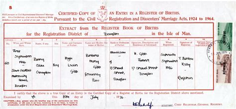 sle of birth certificate bands with scottish and or members