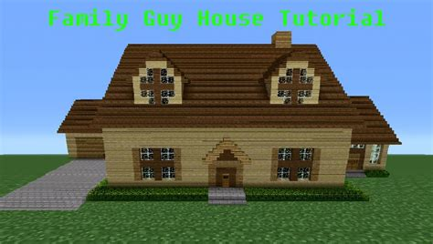 build a mansion minecraft tutorial how to make the quot family guy quot house
