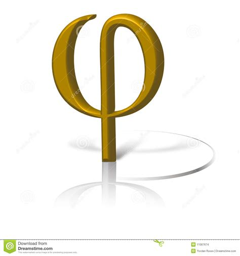 symbol section golden section symbol phi stock illustration image of