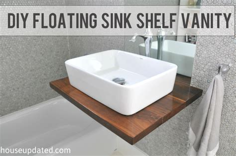 homemade bathroom sinks diy floating vanity with vessel sinks home ideas pinterest