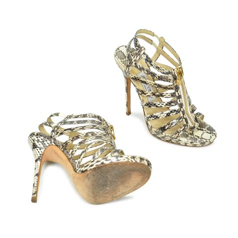 Jimmy Choo Glenys Python Is One Hottah Hottah Pair Of Heels by Jimmy Choo Glenys Snakeskin Sandals The Fifth Collection