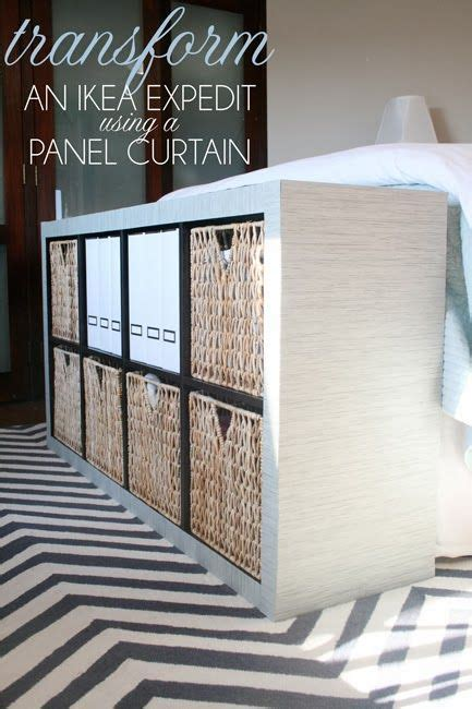 ikea panel curtain hack ikea hack transform an expedit using a panel curtain