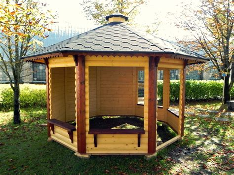 pavillon holz gartenpavillon aus holz mit offenen und zuenen w 228 nden