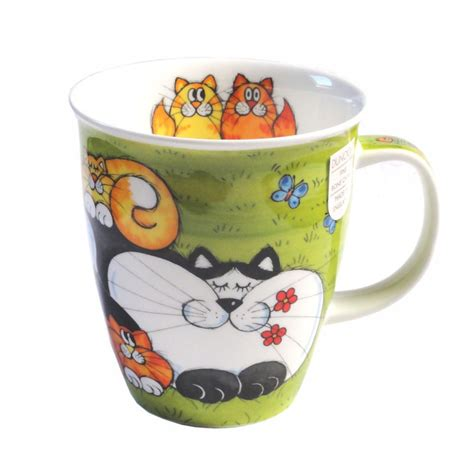 Cat Mug 1 cats n kittens dunoon cat mug green ideal gift for cat