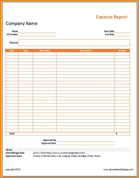 simple expense report template 7 simple expense report expense report