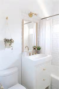 Small White Bathroom Decorating Ideas - ikea yddingen washstand with ikea skogsvag mirror