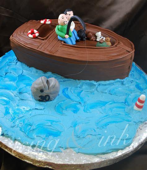 fishing boat cake fishing boat cake icing and ink blog
