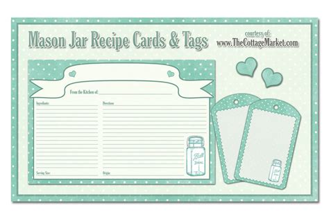 free printable recipe cards for gifts in a jar free printable mason jar recipe cards and tags awesome in