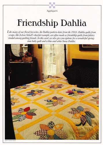 dahlia pattern review friendship dahlia quilt pattern heartland treasures