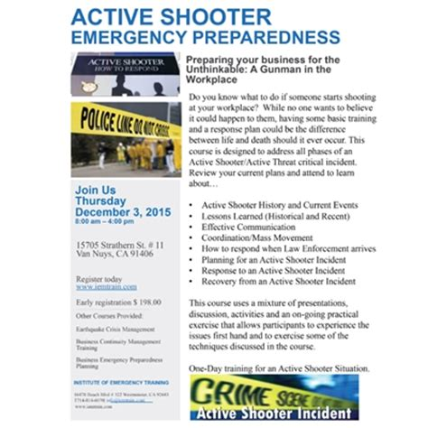 Active Shooter Emergency Preparedness 12 03 15 Active Shooter Emergency Plan Template