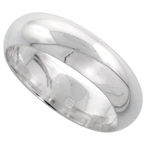 sterling silver comfort fit wedding bands solid sterling silver band comfort fit ring genuine 925