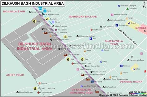 Dilkhush Bagh Industrial Area Map