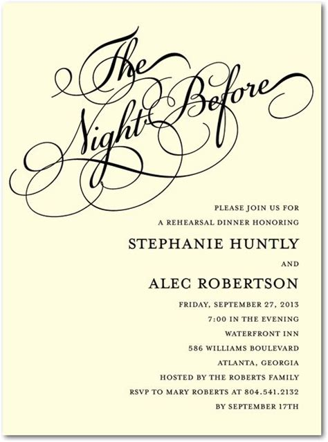 wedding rehearsal dinner invitations the before signature ecru rehearsal dinner wedding