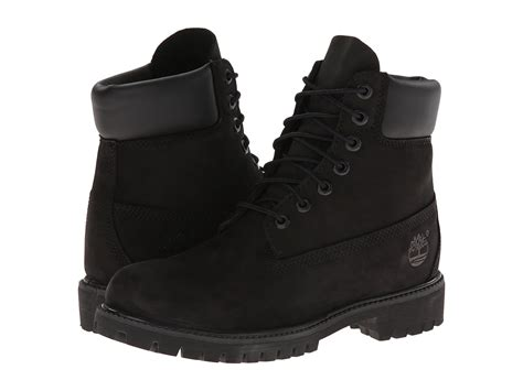 black timberland boots for timberland classic 6 quot premium boot black nubuck zappos