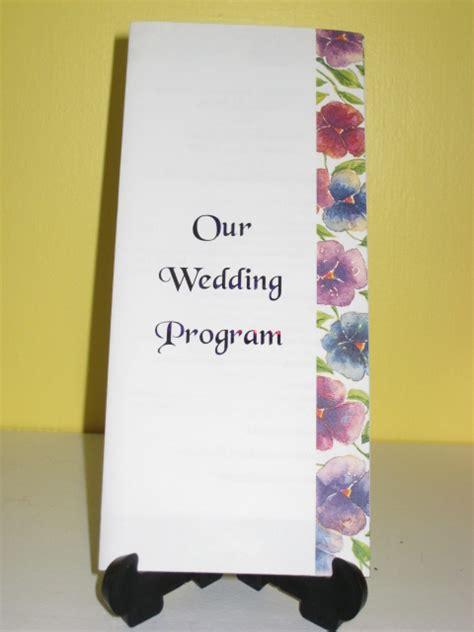 tri fold wedding program template wedding programs fold wedding